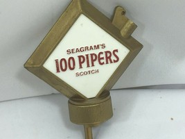 Vintage Seagrams 100 Pipers Scotch Liquor Bottle Spout Stopper Pour 26113 - $17.81