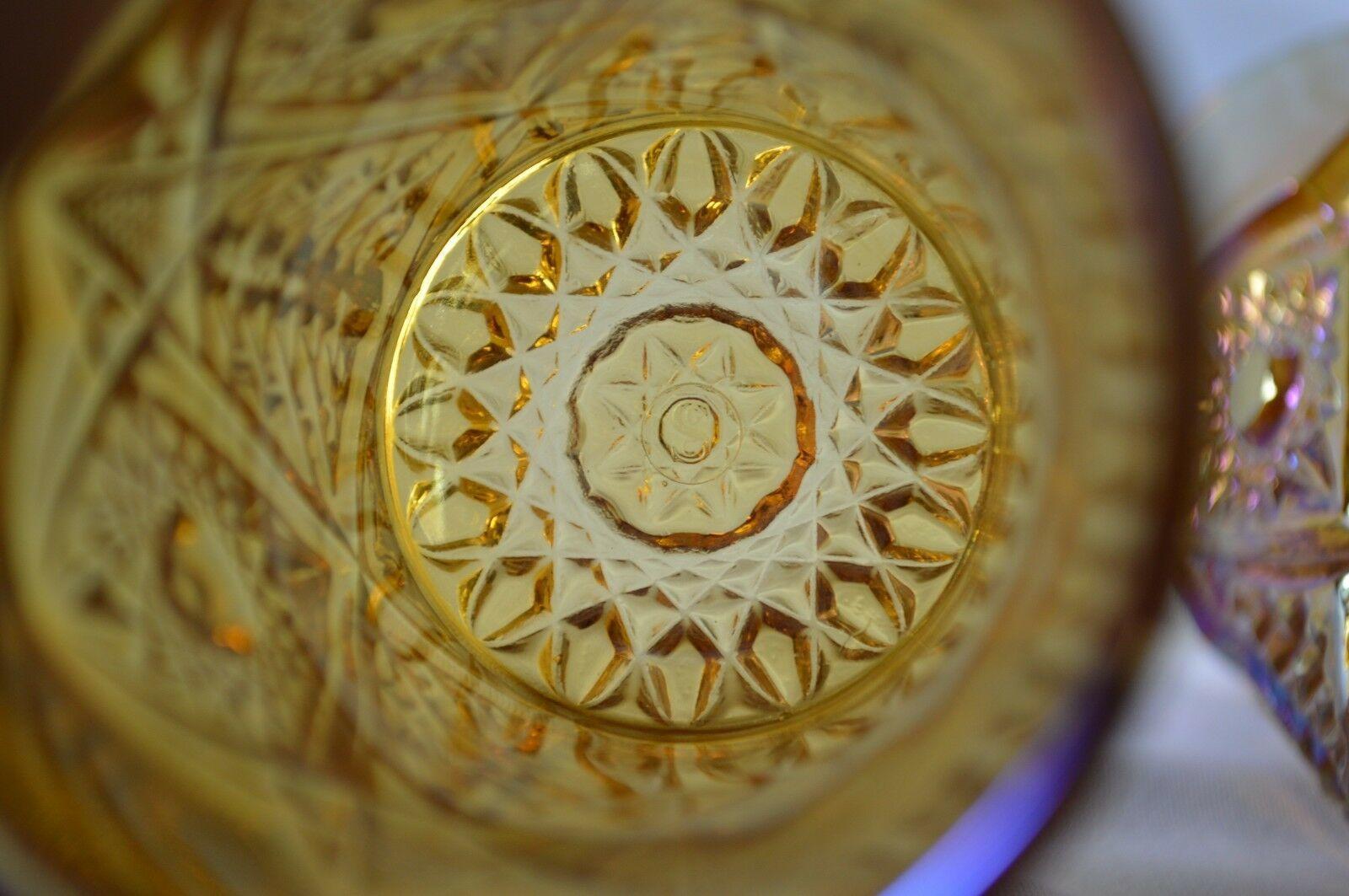 2 L E Smith Carnival Glass Valtec Tumblers image 8