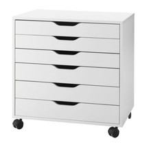 Ikea Alex Drawer Unit on Casters, White, Home Office, 401.962.41 - NEW IN BOX - $218.99