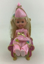 Barbie Baby Kelly Doll Toys Princess with Throne Dressed Mattel Vintage A30 - $14.80
