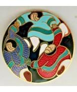 Barbara Lavallee Eskimo Cloisonné Enamel Pin - $23.38