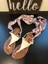 Sam Edelman Women's Blonde Multi Snake Sandal In Good Condition Us Size 7M - $28.04