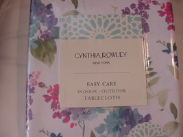 "Cynthia Rowley Hydrangeas and Lilacs Indoor/Outdoor Tablecloth 104"" Oblong - $38.00"