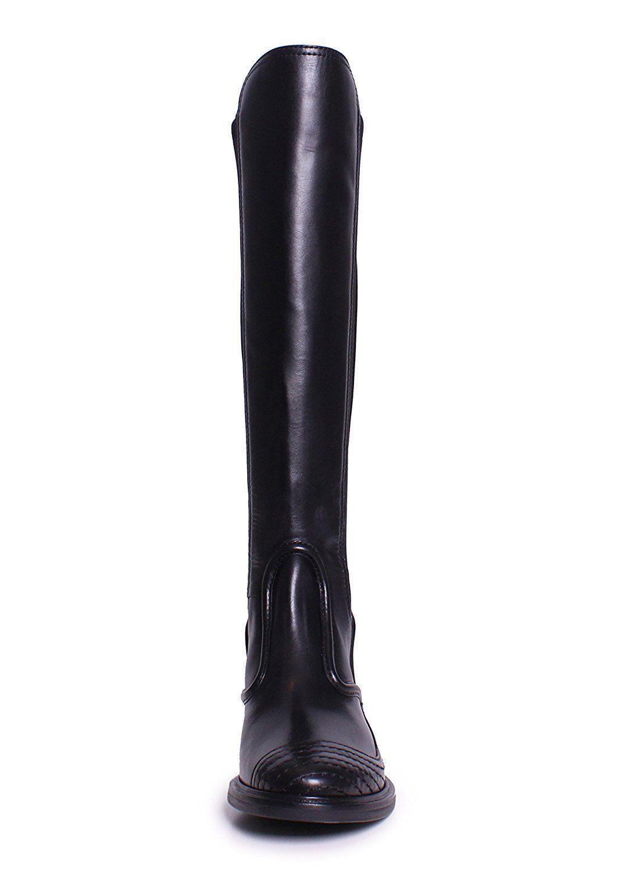 fa5b975a7cc  595 Tory Burch Polara Riding Boots Tall Flat Equestrian Booties 8.5  Stretch New