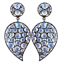 Fashion 925 Sterling Silver Gemstone Dangle Earrings 0.39ct Diamond Gift... - $285.18