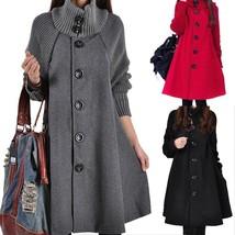New Winter Women's Fashion Casual Bat Coat Women Loose Cotton Hoodies Jacket