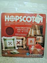 "Charles Craft HOPSCOTCH Cross Stitch Fabric AIDA 14 Count  1 Pc 15 "" x 15 "" NEW - $6.99"