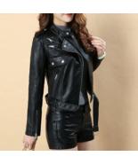 Awesome Beautiful Black Biker Fashion Leather Jacket Handmade Edition - $175.99+