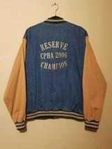 Port Authority RESERVE CPHA 2006 CHAMPION Denim Varsity Jacket Tan Horse... - $67.85