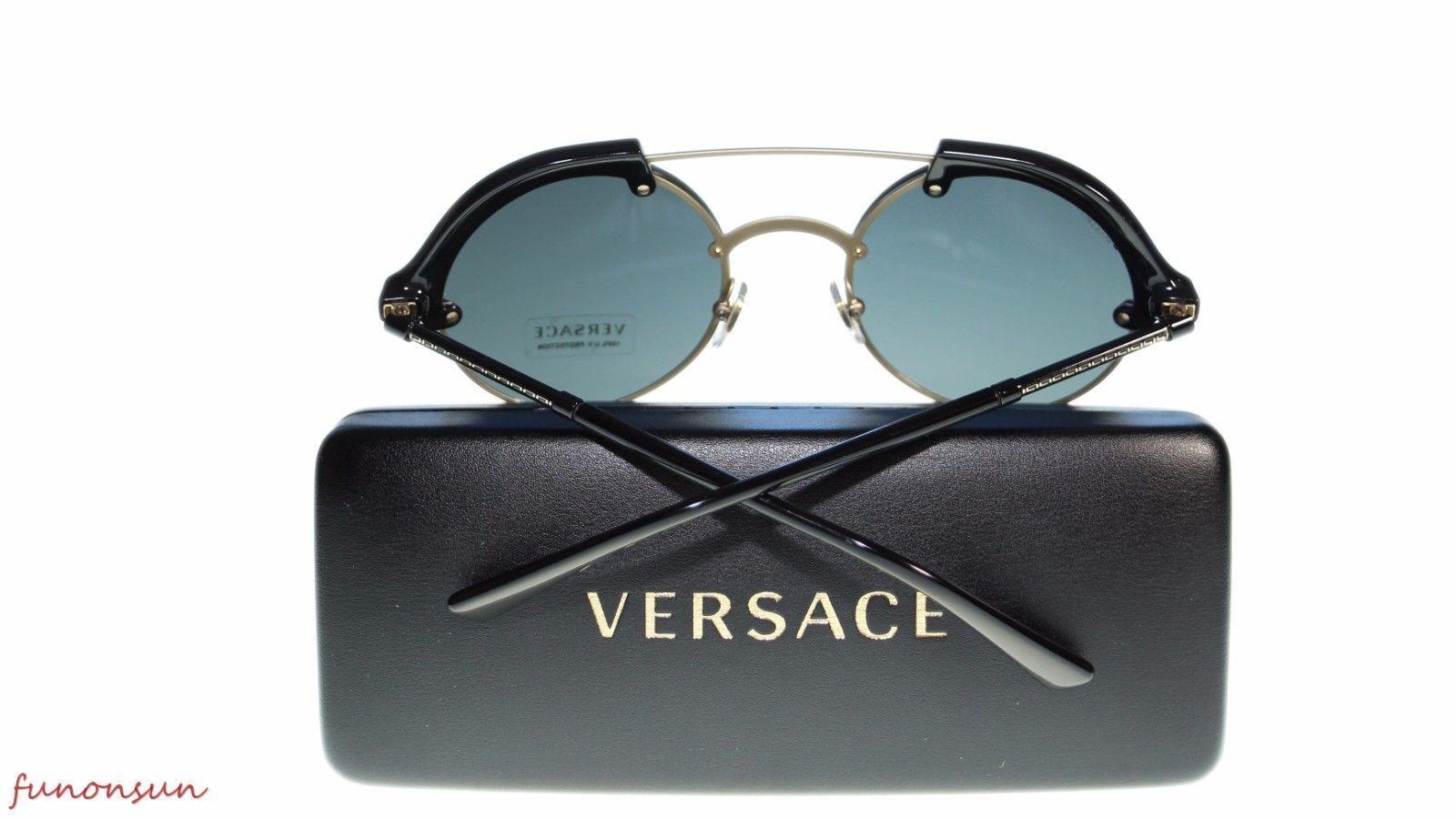 Versace  Women's Sunglasses VE4337 GB187 Gold/Black Gray Lens 53mm