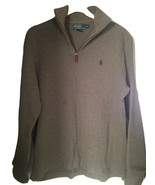 Men Polo 1/4 zip pullup Sweater Size L/G - $24.99