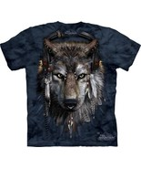 DJ Fen Wolf with Earphones and Feathers Hand Dyed Art T-Shirt XXL, NEW U... - $17.41