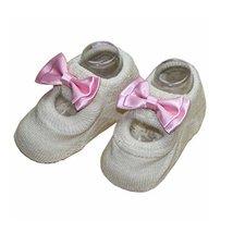 2 Pairs Creative Design Anti-slip Socks Cute Socks, Beige[B]