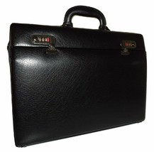 NEW MANCINI LEATHER SLIM ATTACHE LAPTOP BRIEFCASE BURGUNDY - $108.85