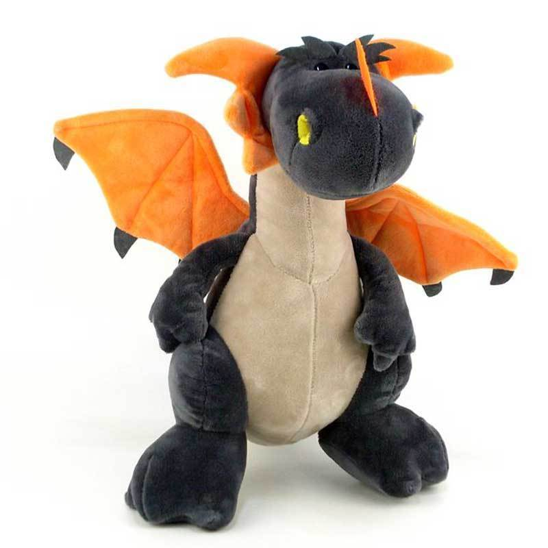 "Plush Dragon Toy Stuffed Animal by NICI toys Grey 12"" Tall Standing Kid Gift"