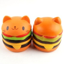 Jumbo Squishy Simulation Hamburger Cat Decompression Toys - $21.58