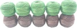 10 Pcs Cotton Yarn Threads Balls Plain Design Cotton Crochet Yarn Hardanger - $16.33