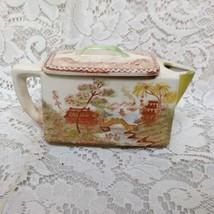Vintage, Oriental Garden Japan, Gaudy Blue Willow Teapot  6.25in x 2in x 3.5inH - $75.95