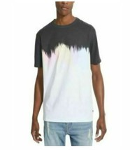 Guess Men's T-Shirt Black Size LARGE Graphic Tee Rainbow Abstract Printed SEALED