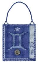 Gemini Zodiac 2018 Charmed Ornament series cross stitch kit Mill Hil - $7.20