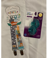 Ulubulu 2-pack Pacifier Clips AND Avent 2-pack Soothie Binky - $14.69