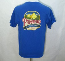 PYRAMID HEFEWEIZEN Mens Blue Short Sleeve Beer T-Shirt (Large) Brewery B... - $12.95