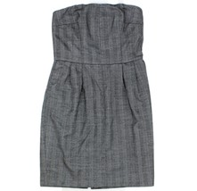Express Design Studio Womens Gray Herringbone Strapless Fully Lined Dres... - $19.79