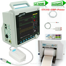 Capnograph Patient Monitor ETCO2+2 IBP+Printer Vital Signs Monitor 6 Par... - $734.70