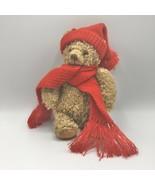 "Hallmark 10"" Mary Teddy Bear Red Hat & Scarf Christmas Winter Stuffed An... - $15.83"