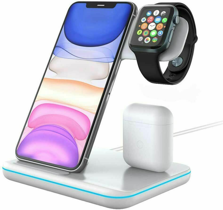 Primary image for Techno S Fast 3 in 1 Wireless Dock Charging Station for Apple,Samsung + Adapter