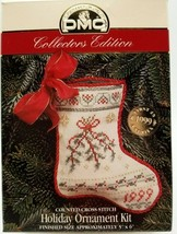 DMC Counted Cross Stitch Ornament Kit Christmas Holiday Stocking New Vintage - $9.99