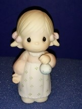 1985 Precious Moments Annual Hanging Christmas Ornament 15806 God Gave His Best. - $9.80