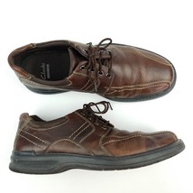 Clarks Sherwin Sz 10.5 M Mens Brown Leather Casual Shoe - $30.78