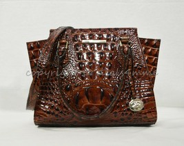 NWT Brahmin Mini Priscilla Leather Satchel/Shoulder Bag in Pecan Melbourne - $239.00