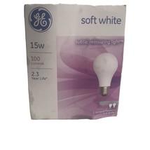 2- NEW GE 97491 Soft White Light Bulbs 15 Watt Soft Reassuring Light A15 Shape - $6.98