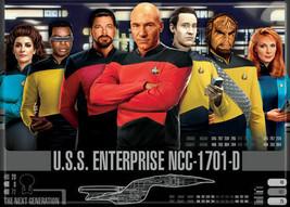 Star Trek The Next Generation Main Cast Render Art Image Refrigerator Magnet NEW - $3.99
