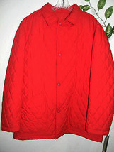Brooklyn Company Red Soft Men's Jacket Size 52 New Made in ITALY Retail ... - $122.26