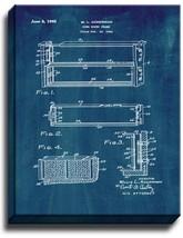 Comb Honey Frame Patent Print Midnight Blue on Canvas - $39.95+