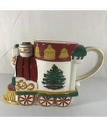 Spode Christmas Tree Village 10 oz Train Engine Coffe Cup Mug - $19.79