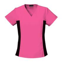 Cherokee Scrubs Flexibles V Neck Scrub Top, Shocking Pink, Size 3XL - $24.95