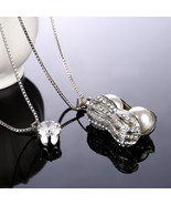 Eye Catching Vintage Long Multi Layer Silver Plated Necklace Fashion Jew... - $15.79