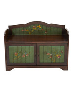 "36"" Antique Floral Art Bench with Drawers - $512.88"