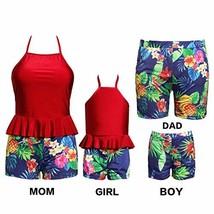 Mother and Me Swimwear Family Matching Swimsuit Toddler Girls Bikini Hal... - $19.54