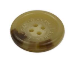 """Ralph Lauren Lauren logo plastic Husk brown color Replacement Front button .85"""" - $4.90"""
