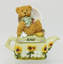 Popular Imports Monthly Teapot with Bear Trinket Box Figurine (April) - $17.33