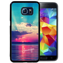 Personalized Rubber Case For Samsung S9 S8 S7 S6 S5 Plus Colorful Sunset - $13.98