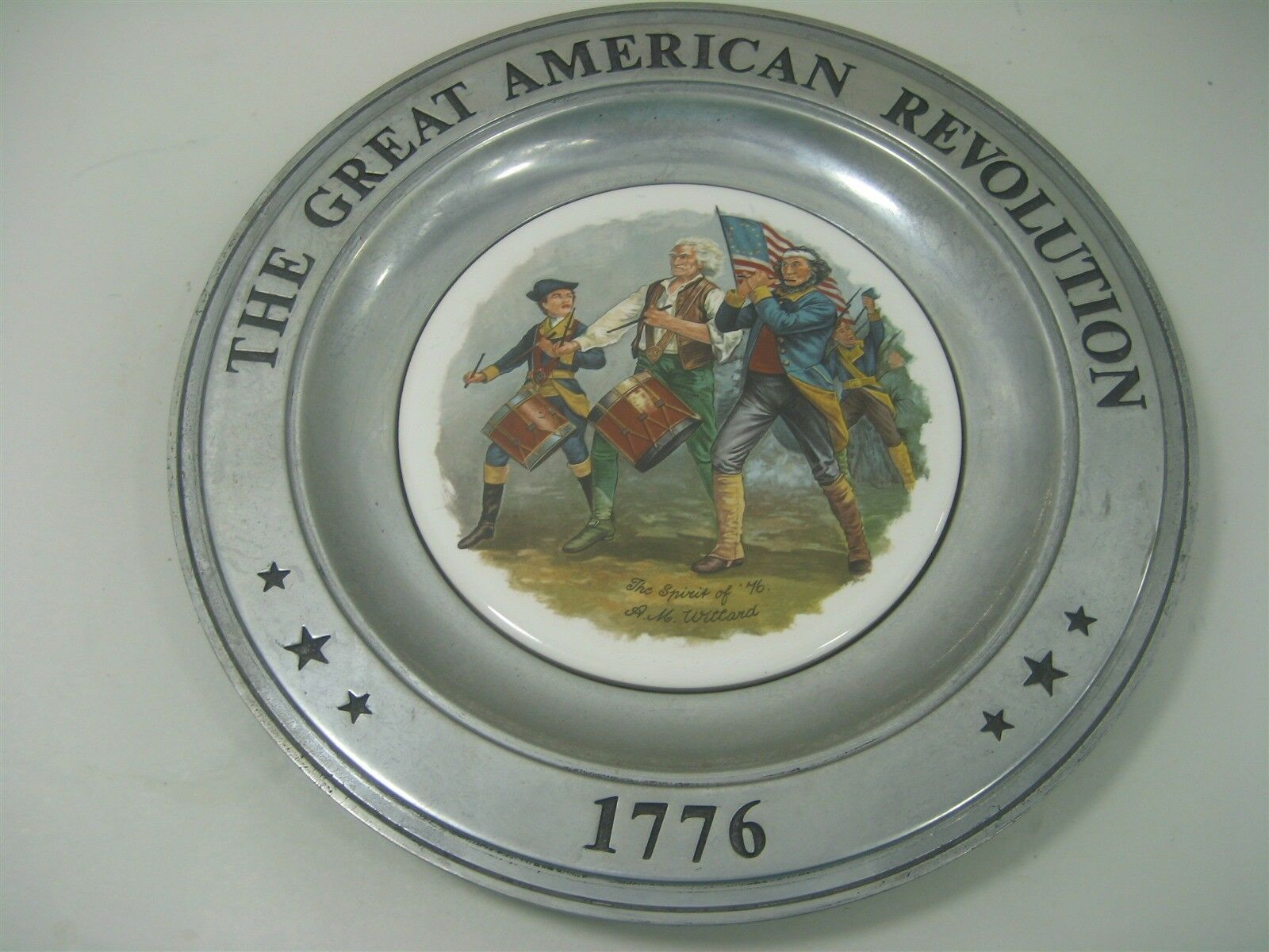Primary image for Vintage Wilton Armetale Collector Plate The Great American Revolution 1776