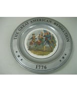 Vintage Wilton Armetale Collector Plate The Great American Revolution 1776 - $18.65