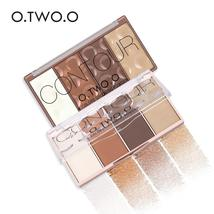 O.TWO.O Contour Palette Face Shading Grooming Powder Makeup 4 Colors Lon... - $12.35