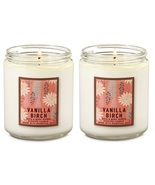 Bath & Body Works Vanilla Birch Scented Jar Candle with Lid x2 - $29.99